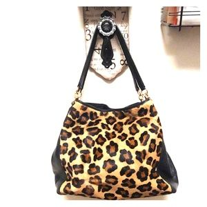 Coach Leopard/black handbag